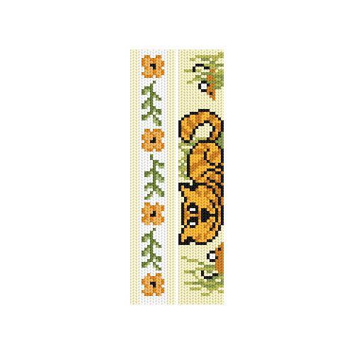 Cross stitch kit - Bookmarks - Yellow frolics