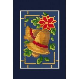 Cross stitch kit - Christmas card - Glowing bells
