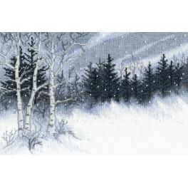 Cross stitch set with beads - Winter night