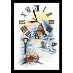 ZGRI 10027 Cross stitch set with beads, clock and frame