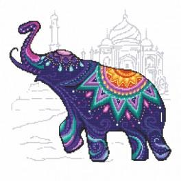 Cross stitch kit with beads - Elephant for fortune