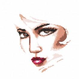 Cross stitch kit with beads - Mysterious