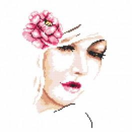 Cross stitch kit with beads - Romantic
