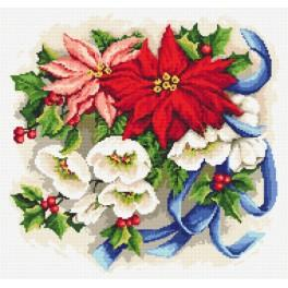 Cross stitch kit wit beads - Christmas composition