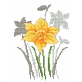 Cross stitch kit with beads - Spring flowers - Daffodil