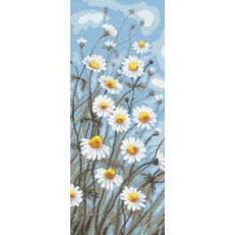 Cross stitch kit with beads - Camomile in the wind