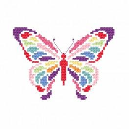 ZI 8695 Cross stitch kit with beads - Butterfly