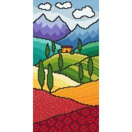 Cross stitch kit with beads - Fairytale Tuscany