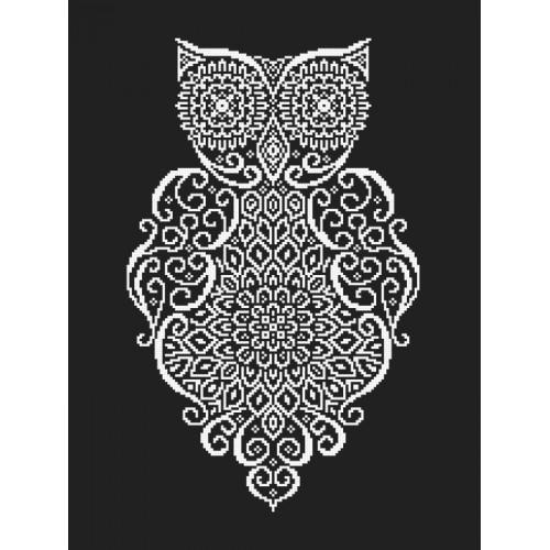 ZK 8849 Kit with beads - Lace owl