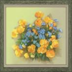 RIO 0058 PT Cross stitch kit - Marigolds and forget-me-nots
