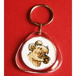 Cross stitch kit - Keyring - Mouse