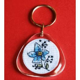 Cross stitch kit - Keyring - Flowers