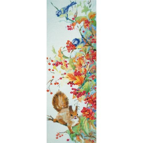 PAJK 2096 Kit with printed pattern, mouline and printed background - Autumn plenty