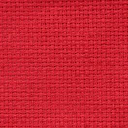 AIDA 54/10cm (14 ct) - sheet 15x20 cm red