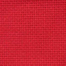 AIDA 54/10cm (14 ct) - sheet 20x25 cm red
