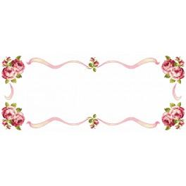 ZU 8349 Cross stitch kit - Table runner with roses