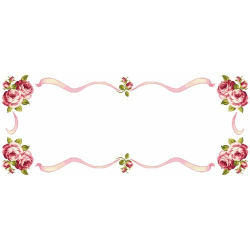 Cross stitch kit - Table runner with roses
