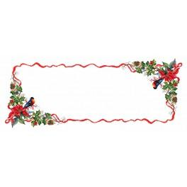 ZU 8383 Cross stitch kit - Table runner - Christmas evening