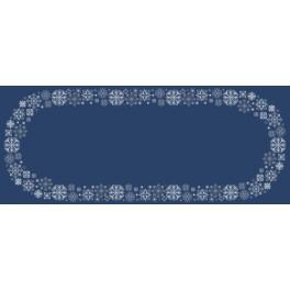 Cross stitch kit with a runner - Table runner with snowflakes