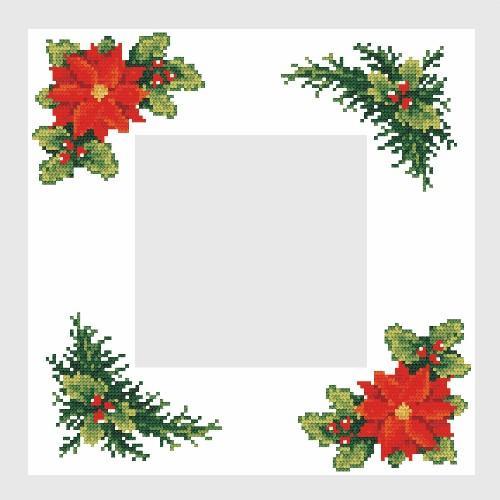 Z 4679 Cross stitch kit - Christmas napkin