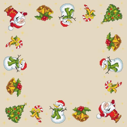 ZU 8344 Cross stitch kit - Christmas napkin