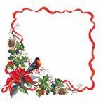 ZU 8381 Cross stitch kit - Napkin - Christmas evening