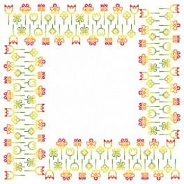Cross stitch kit - Napkin - Spring inspiration