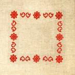 Cross stitch kit with mouline and napkin - Folk napkin II