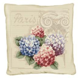 Online pattern - Pillow with hydrangeas