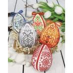 Kit with beads - Easter egg - blue arabesque