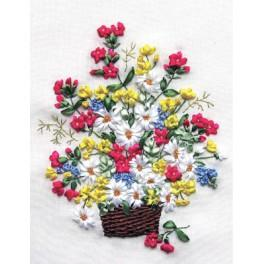 Ribbon set - Bouquet in a basket