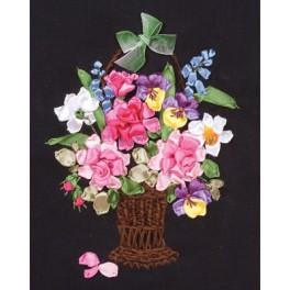 Ribbon set - Basket full of flowers
