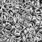 Spring mounting rings, silver colour 7mm