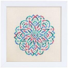 Kit with mouline and frame - Embroidered lace