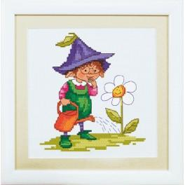 Kit with mouline and frame - Spring gnome
