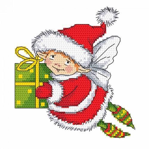 Cross Stitch pattern - Elf Santa Claus