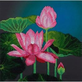 PABN 5005 Set with beads - Pink lotus