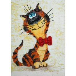 Set with beads - Leonard the cat