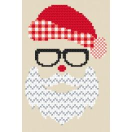 Cross stitch pattern - Postcard - Santa Claus