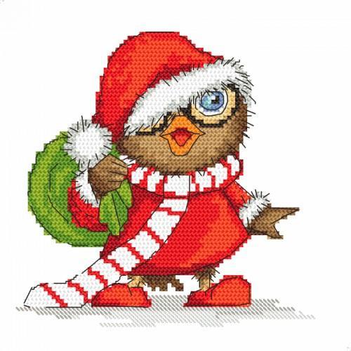 Christmas Owl.Tapestry Aida Christmas Owl