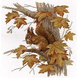 PAJ 1472 Cross stitch set - Squirrel