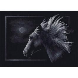 PAJ 0527 Cross stitch set - Moonlit horse