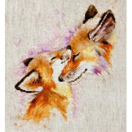 LS B2312 Cross stitch kit - Foxes