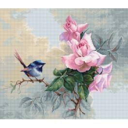LS B2313 Cross stitch kit - Birdie