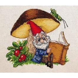 Cross stitch kit - Under the mushroom