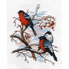Cross stitch kit - Bullfinches