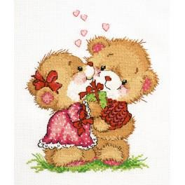 OV 710 Cross stitch kit - Happy together