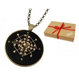 Zestaw prezentowy - Medalion - Złoty romb