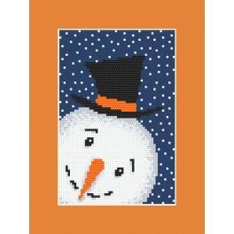Pattern online - Postcard - Playful snowman