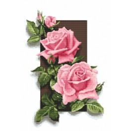 Cross stitch set with beads - Rose 3D